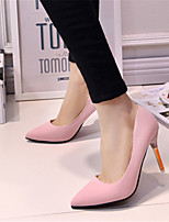 Women's Shoes Leatherette Stiletto Heel Heels Heels Wedding / Party & Evening Black / Pink / Gray