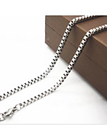 2.0mm*50cm Titanium Steel Necklace Chain Necklaces Daily / Casual 1pc Jewelry