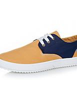 Для мужчин Кеды Удобная обувь Полотно Весна Лето Осень Зима Повседневные Комбинация материалов На плоской подошвеЧерный Серый Желтый