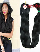 1-12packs Black Color Braiding Hair High Temperature braiding hair 100g/pcs synthetic braiding hair Extensions