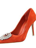 Chaussures Femme-Décontracté-Noir / Vert / Rose / Rouge / Gris / Bordeaux / Orange-Talon Aiguille-Talons-Talons-Velours