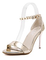 Women's Shoes Patent Leather Stiletto Heel  Open Toe Sandals Party & Evening / Dress Silver / Gold