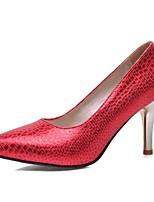 Chaussures Femme-Mariage / Bureau & Travail / Soirée & Evénement-Noir / Bleu / Rouge / Or-Talon Aiguille-Talons-Talons-Similicuir