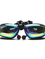 FEIUPE®Adjustable Size, Waterproof, Anti-Fog for Unisex Black/Orange/Light Blue/Light Pink/Grey/Blue Swimming Goggles