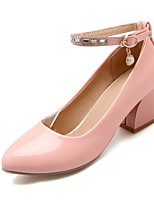 Women's Shoes Leatherette Chunky Heel Heels Heels Outdoor / Office & Career / Party & Evening Black / Pink / White