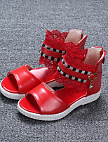 Girls' Shoes Outdoor Comfort Leatherette Sandals Pink / Red / White
