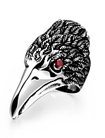 Fashion jewelry Women's / Men's ring The ancient Maya Punk eagle red zircon 316 l steel ring for party GMYR190