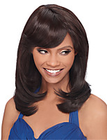 High Quality Brown Wig Fashion Style High Temperature Wire Middle Long Straight Hair Wig