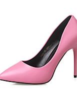 Zapatos de mujer - Tacón Stiletto - Tacones / Punta Cerrada - Tacones - Vestido - Semicuero - Negro / Rosa / Blanco