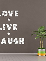 AYA™ DIY Wall Stickers Wall Decals,Love Live Laugh  English Words & Quotes PVC Wall Stickers