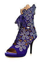 Women's Shoes  Stiletto Heel Heels / Peep Toe Sandals Party & Evening / Dress / Casual Black / Purple(Genuine leather)
