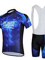 Conjuntos de Roupas/Ternos / Calções Bibes ( Azul / Roxo ) - de Ciclismo / Motorbike - Homens -Respirável / Resistente Raios Ultravioleta