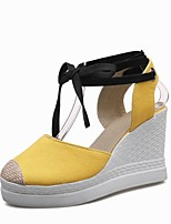 Women's Shoes Canvas / Wedge Heel Wedges / Heels / Platform / D'Orsay & Two-Piece / Ankle Strap Sandals