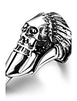 Skull Design RingPunk Style Titanium Fashion Jewelry For Men Finger Ring AccessoriesTS GMYR174