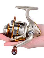 Mini Metal Fishing Spinning Reel ,10 Ball Bearing Gear Rate 5.2:1 Interchangeable Handle