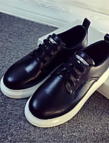 Women's Shoes Leatherette Platform Creepers Fashion Sneakers Outdoor / Casual Black / White