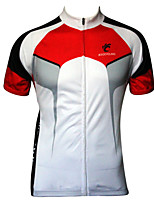 JESOCYCLING Men's Spring And Summer  100% Polyester Breathable Short Sleeve Cycling Jersey Cycling Top