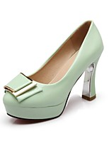 Women's Shoes Leatherette Stiletto Heel Heels Heels Wedding / Office & Career / Party & Evening Black / Green / Beige