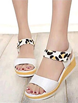 Women's Shoes Leatherette Platform Creepers Sandals Casual White / Beige