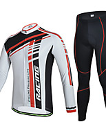 CHEJI Men Cycling Long Sleeve Clothing Set Bike Bicycle Suit Jersey + Trousers