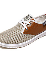Men's Shoes Athletic / Casual Tulle Fashion Sneakers Blue / Gray / Khaki