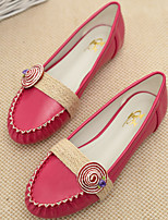 Women's Shoes  Flat Heel Moccasin / Round Toe / Closed Toe Flats Dress / Casual Black / Pink / White
