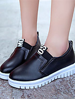Women's Shoes Leatherette Platform Creepers Fashion Sneakers / Loafers Outdoor / Casual Black / Red / White