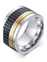 316 Pure Steel Great Wall Lines Man Ring