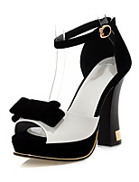 Women's Shoes Chunky Heel Peep Toe / Platform / D'Orsay & Two-Piece Dress Sandals White/Red
