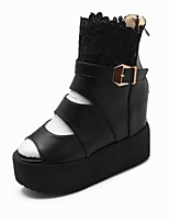 Women's Shoes  Wedge Heel Platform / Bootie Sandals / Boots Office & Career / Dress / Casual Black / White