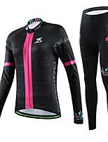 CHEJI Women Cycling Long Sleeve Clothing Set Bike Bicycle Suit Jersey + Trousers