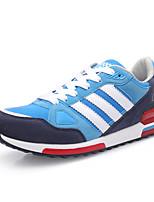 Zapatos Sneakers Semicuero Negro / Azul / Naranja Hombre