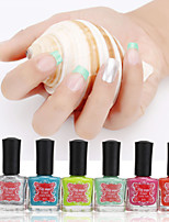 Safe Nontoxic Green Water-based Soak-off Color Sweetheart Nail Polish Kits(6*8ml)