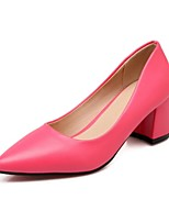 Women's Shoes Leatherette Chunky Heel Heels Sandals Office & Career / Party & Evening / Casual Green / Pink / Red