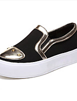 Women's Shoes Tulle / Leatherette Platform Creepers / Comfort Loafers Outdoor / Casual Black / White