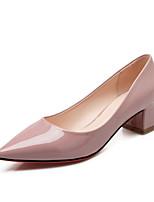 Women's Shoes Chunky Heel Heels / Pointed Toe / Closed Toe Heels Dress Black / Pink / Gray