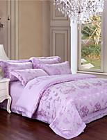 speciale balie lila beddengoed set zoete ontwerp uni dekbedovertrek huwelijksgeschenken beddengoed beddengoed 4 stuks koninginkoning