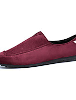 Men's Shoes Casual Fabric Loafers Black / Blue / Red