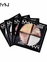 4 Palette de Fard à Paupières Mat Fard à paupières palette Poudre Normal Maquillage Quotidien