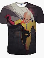 Men's Short Sleeve T-Shirt Casual Print