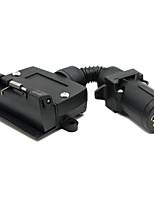 Tirol 7 контактный разъем части прицепа лодка грузовик автомобиль штекерный разъем адаптера 7-контактный плоский разъем 7 контактный