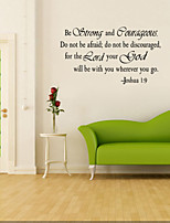 8023 Be Strong And Courageous DIY Removable Art Vinyl Quote Wall Sticker Decal Mural Home decoration
