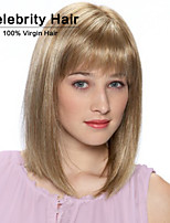 Europe and the United States Short Straight Hair Fashion Lady Blonde Chemical Fiber False Head Synthetic Wigs