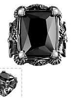 Anneaux,Bijoux Noir Vintage Soirée Acier inoxydable 1pc,8 / 9 / 10 / 11