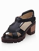 Women's Shoes  Chunky Heel Heels / Peep Toe / Comfort Sandals Outdoor / Office & Career / Dress Black /