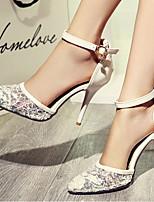Women's Shoes Heel Heels / Pointed Toe Sandals / Heels Office & Career / Dress / Casual Black / Red / White