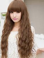 bouclés perruques de cheveux synthétiques européen extra long de haute qualité