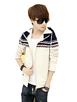 Men's jacket 2016 spring and autumn thin mosaic new Korean cultivating young students Hoodie trend