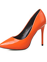 Women's Shoes Microfibre Stiletto Heel Heels / Closed Toe Heels Dress Black / Green / Gray / Orange