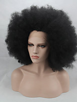 Fashion Synthetic Wigs Lace Front Wigs 10inch Kinky Straight  Black Heat Resistant Hair Wigs Wome